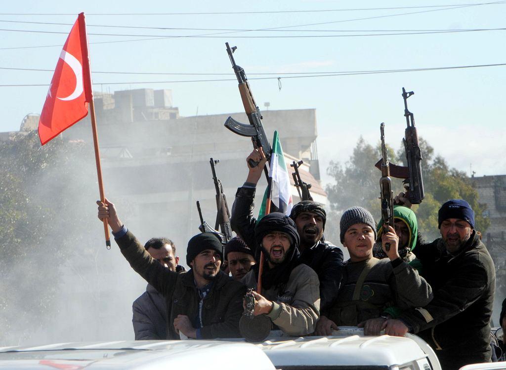 Wspierana przez Turcję Wolna Armia Syryjska bierze udział w operacji w Afrin