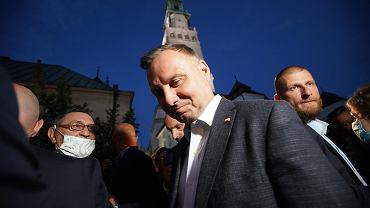Prezydent Andrzej Duda w roli pątnika na Jasnej Górze. Częstochowa, 13 lipca 2020