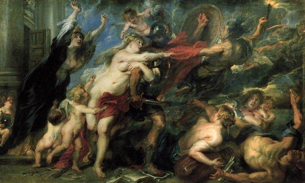 Miłość i wojna. (aut. Peter Paul Rubens - Konsekwencje wojny. Public Domain)