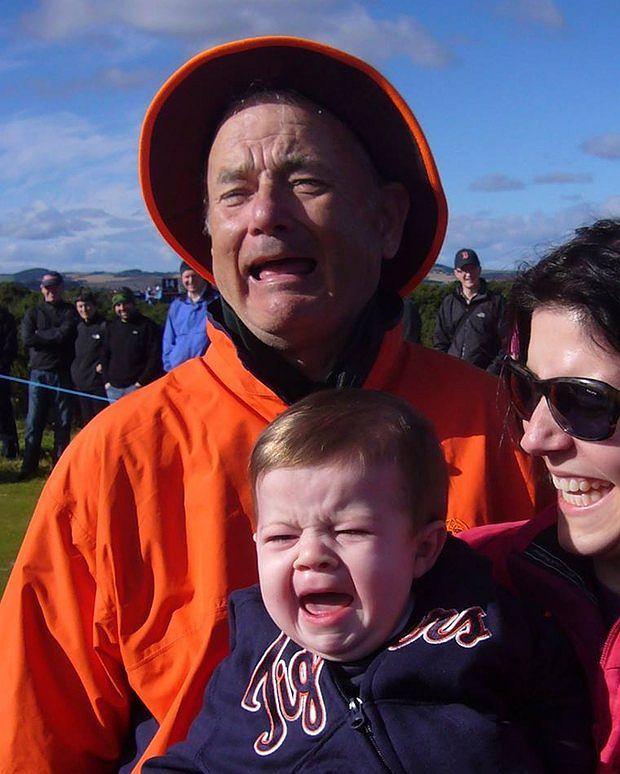 Bill Murray z dzieckiem