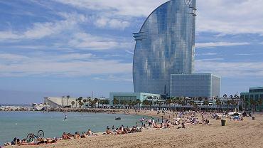 Plaża Sant Sebastia w Barcelonie / Zdjęcie ilustracyjne