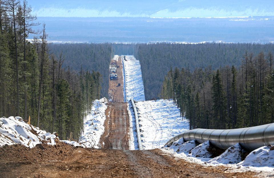 Budowa gazociągu 'Siła Syberii'