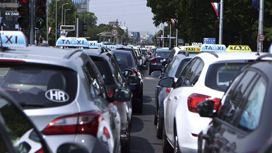 Protest taksówkarzy przeciwko Uberowi w Chorwacji