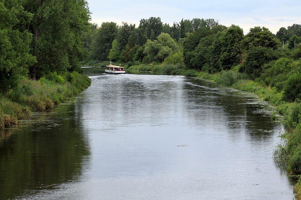 Kanał Żerański koło Kobiałki, widok w stronę Nieporętu.