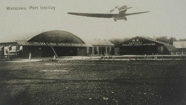 Lotnisko na Polu Mokotowskim w 1929 roku.