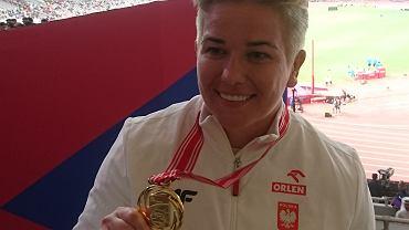 Anita Włodarczyk ze złotym medalem mistrzostw świata