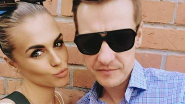 Marcin Mroczek z żoną Marleną