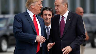 Prezydent USA Donald Trump i prezydent Turcji Recep Tayyip Erdogan.