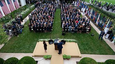 Uroczystość w Białym Domu 26 września, prawdopodobny moment dostania się wirusa do otoczenia Donalda Trumpa