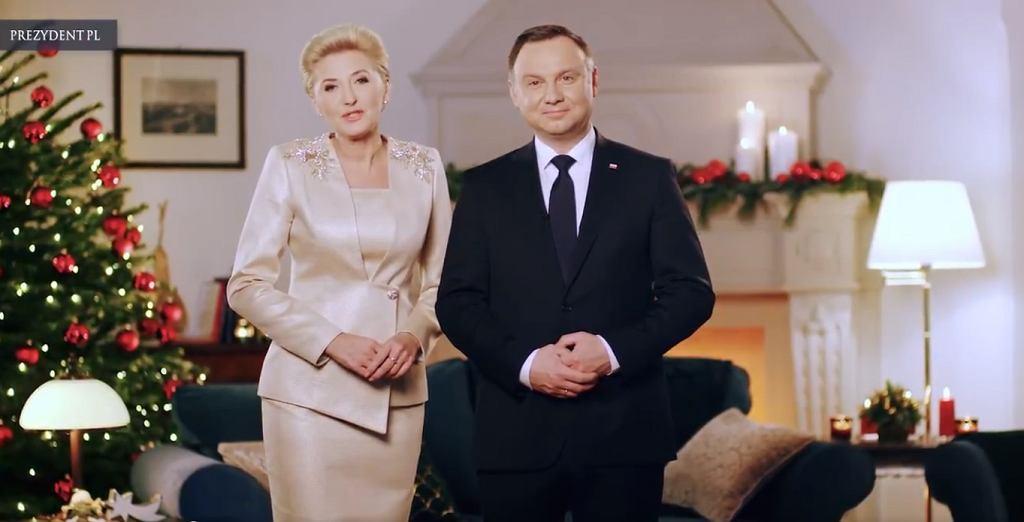 Prezydent Andrzej Duda i jego małżonka złożyli Polakom świąteczne życzenia