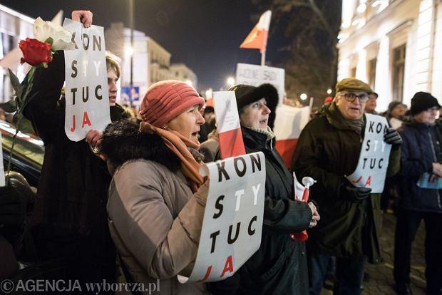 Demonstracja 3xW w Lublinie