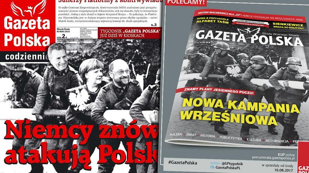 Dwie okładki 'Gazety Polskiej'