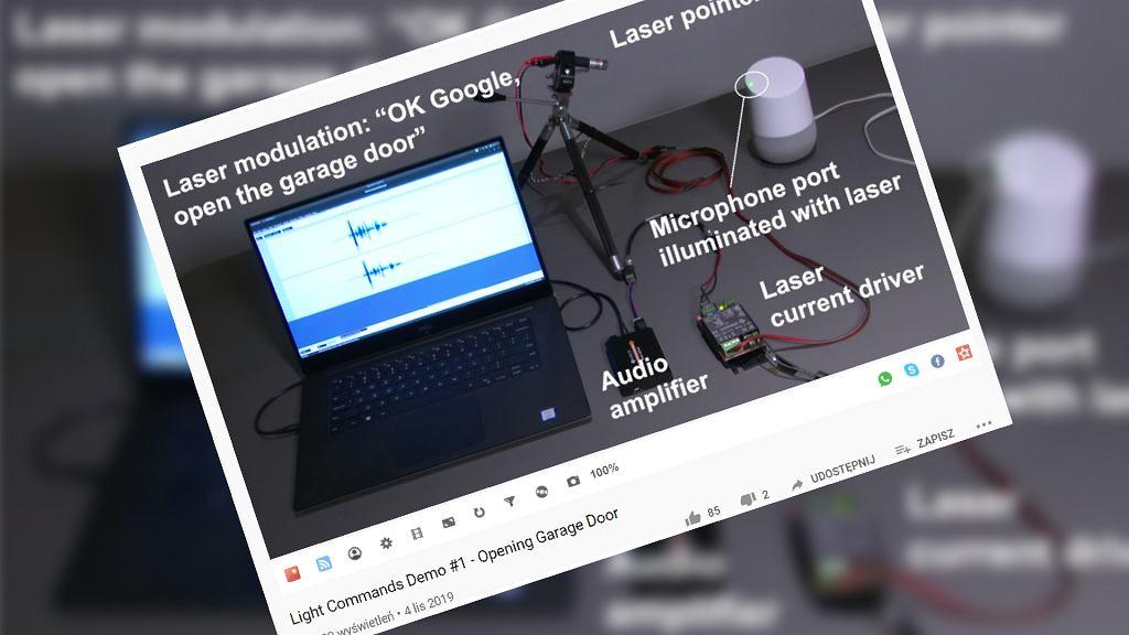 Laserowe wybudzanie komend głosowych