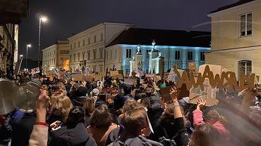 Protest w Warszawie