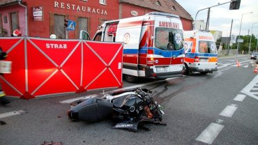 Wypadek śmiertelny motocyklisty na ul. Oleskiej