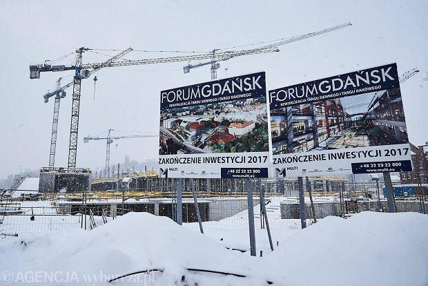 06.01.2017 Gdansk . Budowa Forum Gdansk . Fot. Jan Rusek / Agencja Gazeta  SLOWA KLUCZOWE: Gdansk budowa Forum Gdansk zima