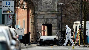 Eksplozja bomby na Bishop Street w Derry (Londonderry) w Irlandii Północnej. Nie ma ofiar. 20 stycznia 2019
