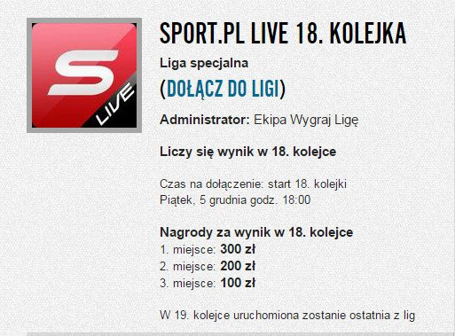 Liga Sport.pl Live 18. kolejka