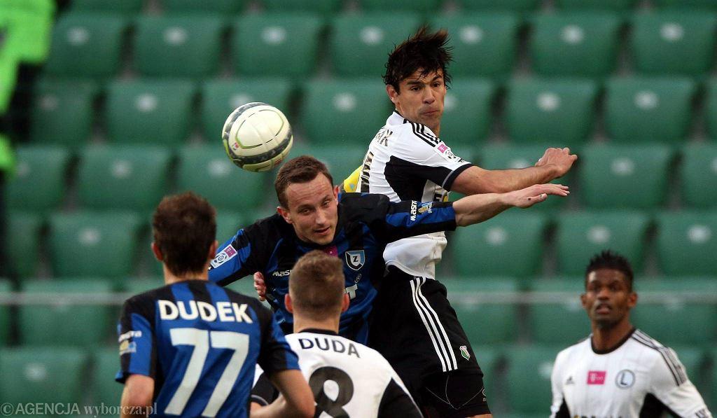 Ivica Vrdoljak w meczu Legia - Zawisza