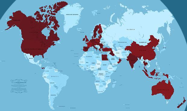 Kraje, które wydały zakaz lotów Boeing 737 Max 8