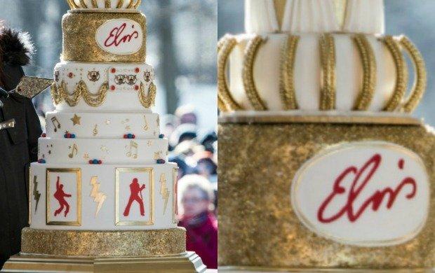 Tort na 80-te urodziny Elvisa Presleya