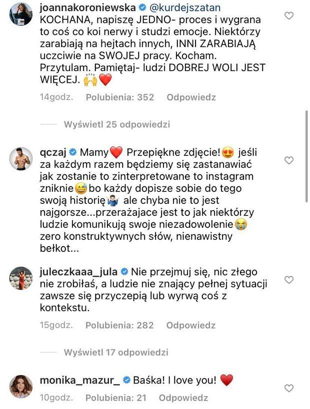 komentarze Joanna Koroniewska, Qczaj, Julia Wróblewska