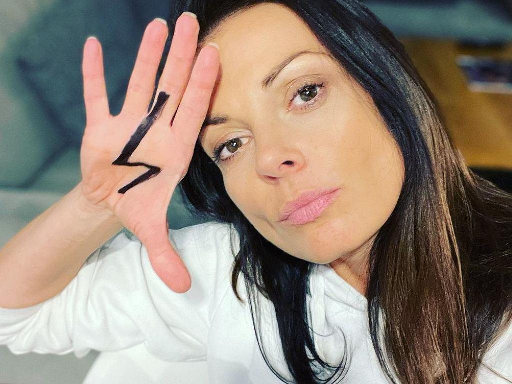 Katarzyna Glinka wspiera Strajk Kobiet