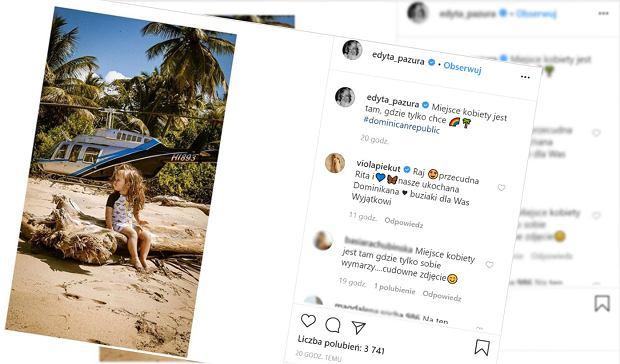 """Edyta Pazura odpowiada na kontrowersyjną reklamę z Larą Gessler. """"Miejsce kobiety jest tam gdzie chce"""""""