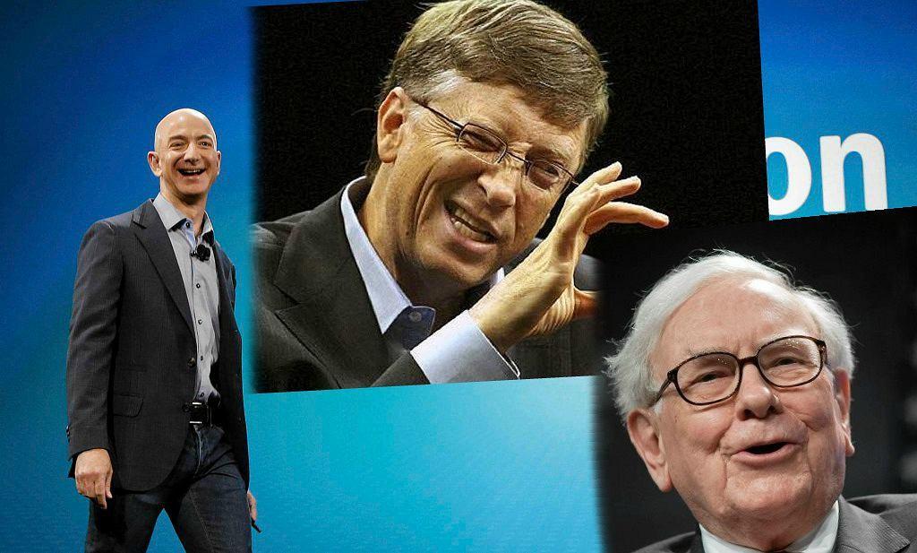 Jeff Bezos, Bill Gates, Warren Buffett