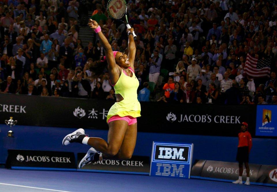 Zdjęcie numer 0 w galerii - Australian Open. Szalona radość Sereny Williams [ZDJĘCIA]