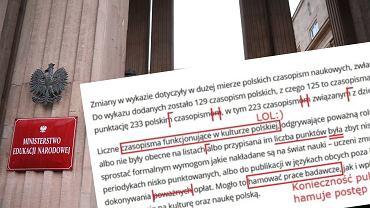 Pełny błędów komunikat Ministerstwa Edukacji i Nauki