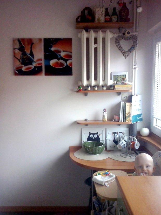 Metamorfoza kuchni, farba tablicowa w kuchni, kuchnia przed zmianą