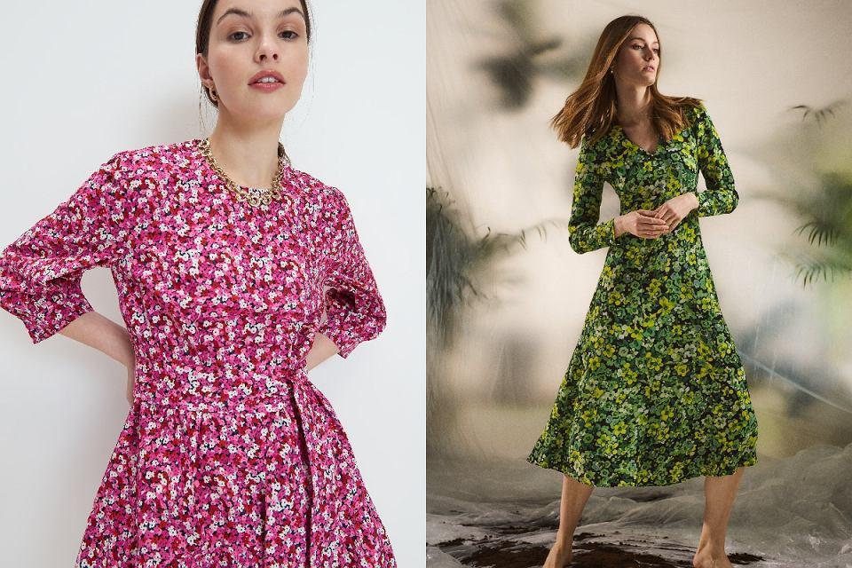 Wiosenne sukienki w kwiaty