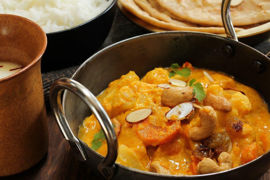 Seitan curry z warzywami