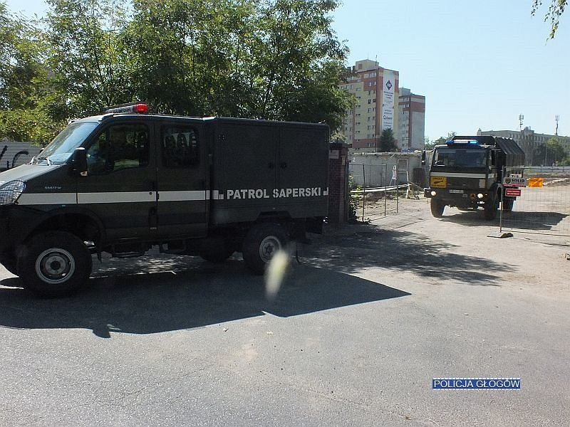 Bomba na terenie budowy galerii w Głogowie został usunięta w czwartek, 26 lipca. Ewakuowano 400 osób