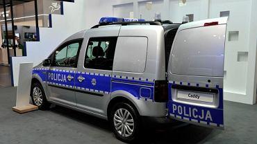 Policyjny Volkswagen Caddy