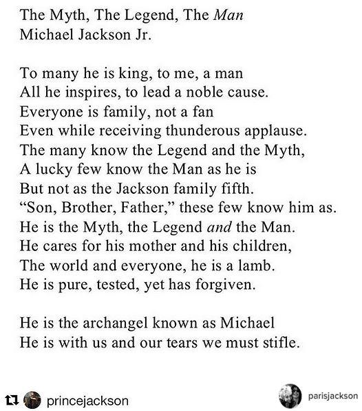 Blanket Jackson Złożył Hołd Swemu Ojcu Napisał Wzruszający