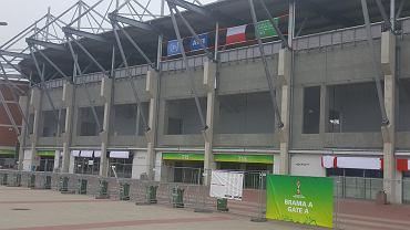 Stadion Widzewa przed meczem Polska - Kolumbia