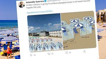 Na włoskich plażach miałyby stanąć boksi z pleksi dla turystów