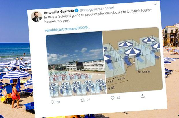 Włosi zastanawiają się, jak zorganizować wakacje. Wymyślili boksy z pleksi na plażach