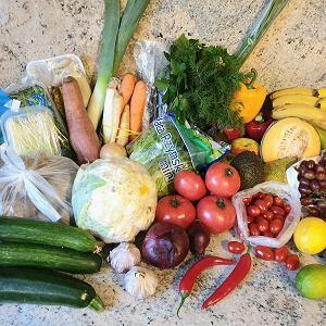 Warzywa z pobliskiego warzywniaka