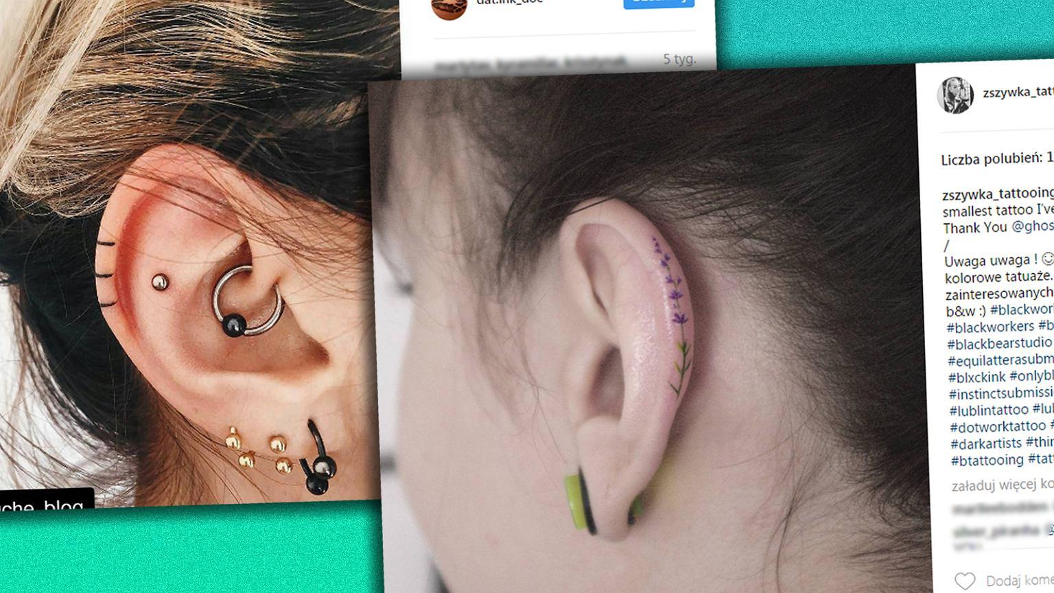 Minimalistyczne Tatuaże Na Płatku Ucha Nie Mogłyśmy Się