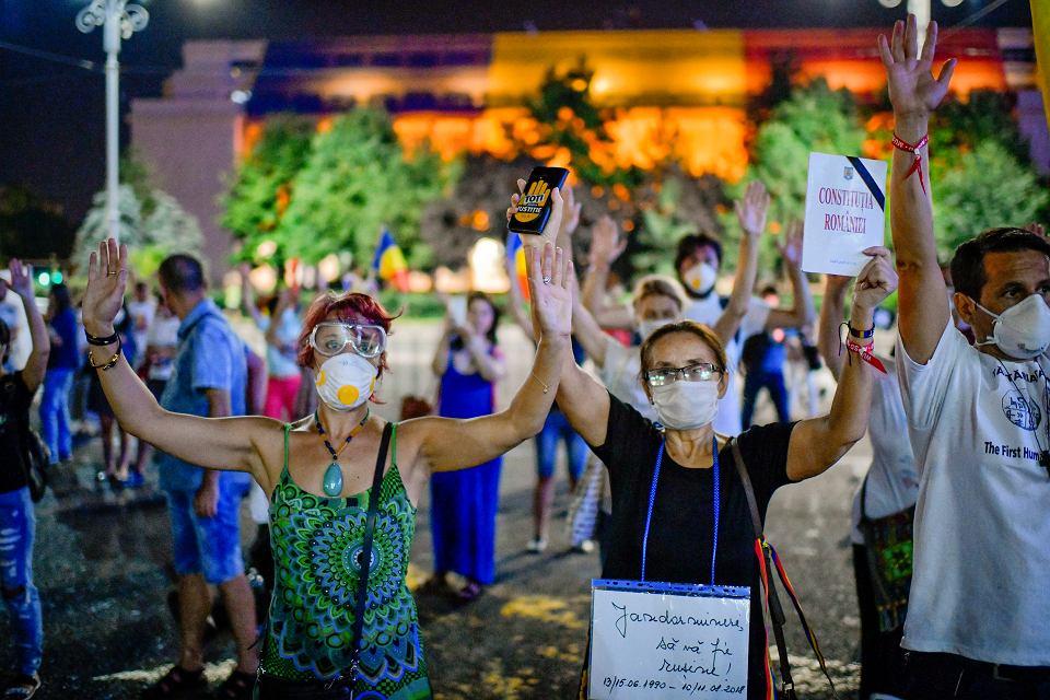 17.08.2018, Bukareszt, Rumunia, protest antyrządowy.
