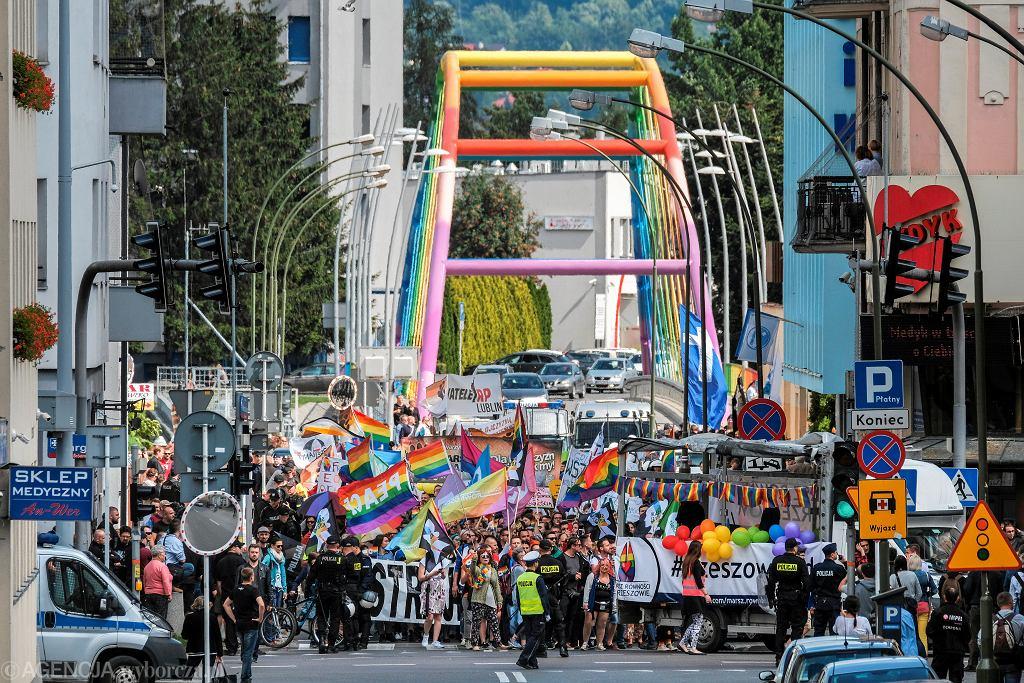 I Marsz Równości w Rzeszowie w 2018 roku