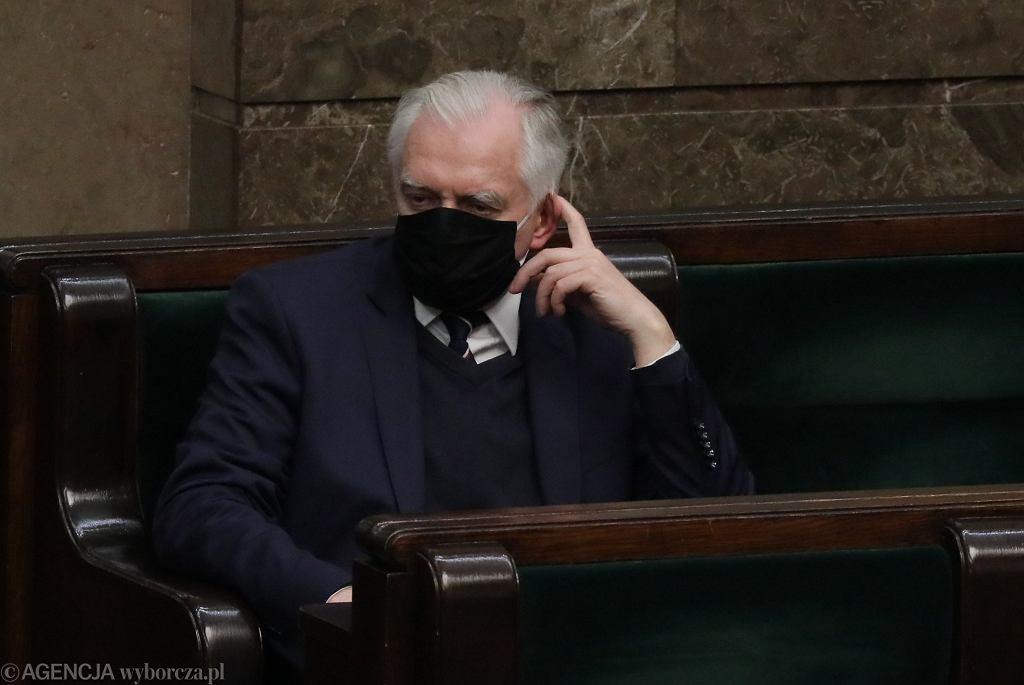 Jarosław Gowin w ławach sejmowych