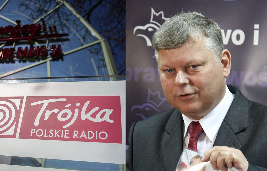 Siedziba Trójki (po lewej) i Marek Suski (zdj. archiwalne)