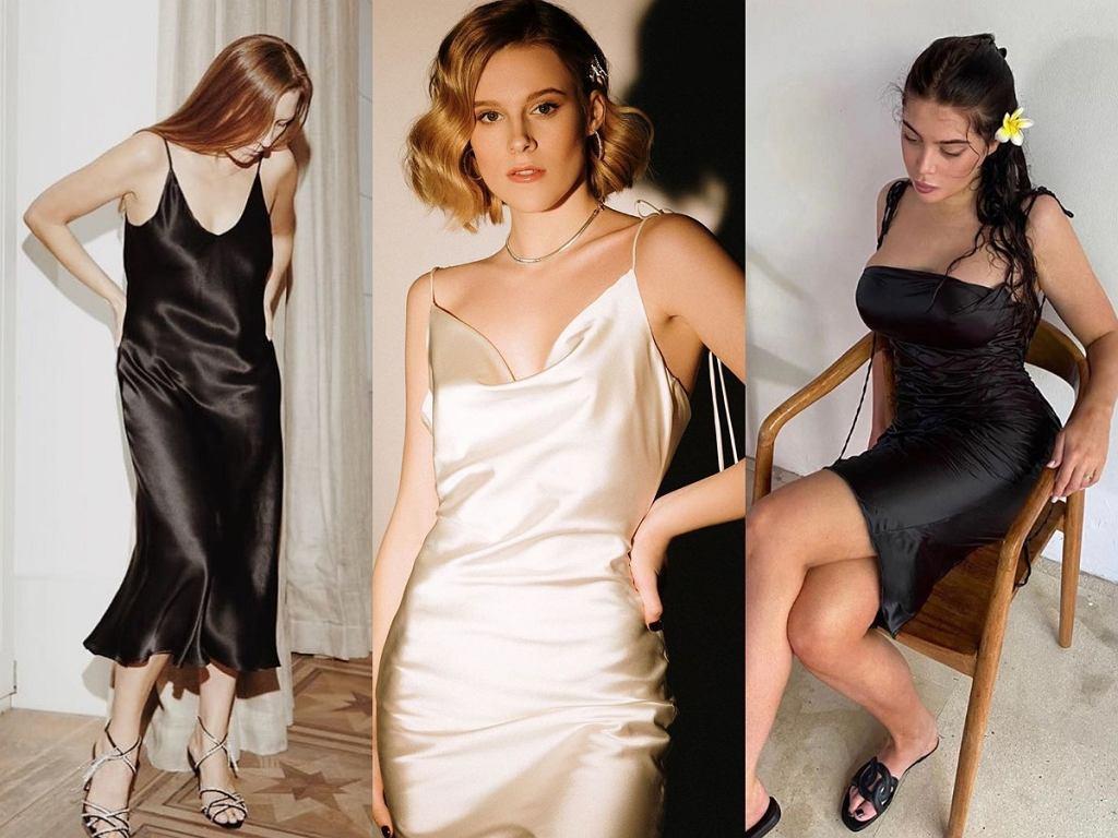 Sukienki typu slip dress z jedwabiu polskich marek: Lovlisilk, Verla, Herseasons