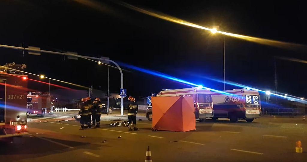 Łódź. Wypadek na Trasie Górna