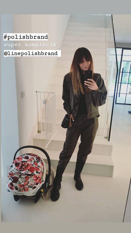 Anna Lewandowska w modnym komplecie polskiej marki