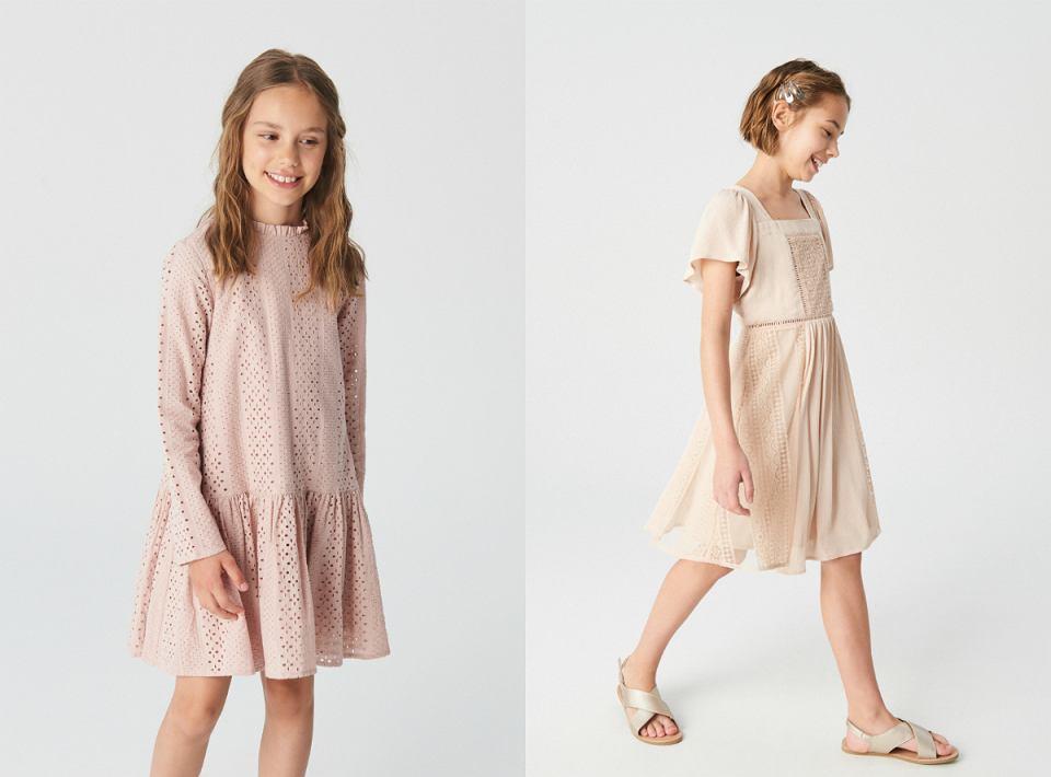 Sukienki w odcieniu nude dla dziewczynki